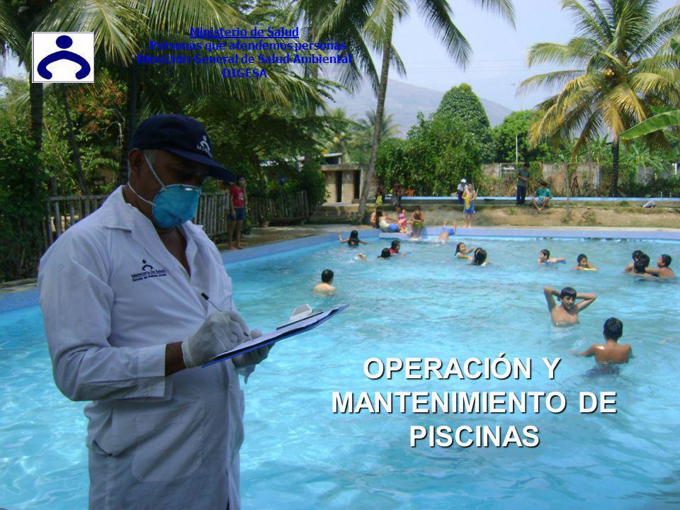 OPERACIÓN Y MANTENIMIENTO DE PISCINAS Ministerio de Salud Personas que atendemos personas Dirección General de Salud Ambiental DIGESA