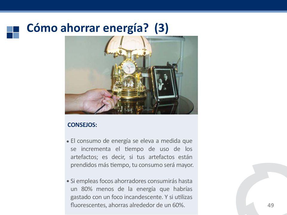 Cómo ahorrar energía? (3) 49