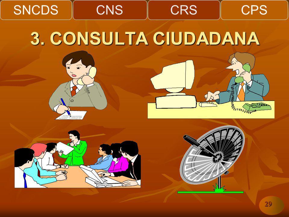 SNCDSCNSCRSCPS 29 3. CONSULTA CIUDADANA