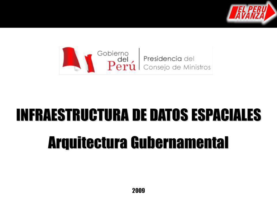 INFRAESTRUCTURA DE DATOS ESPACIALES Arquitectura Gubernamental 2009