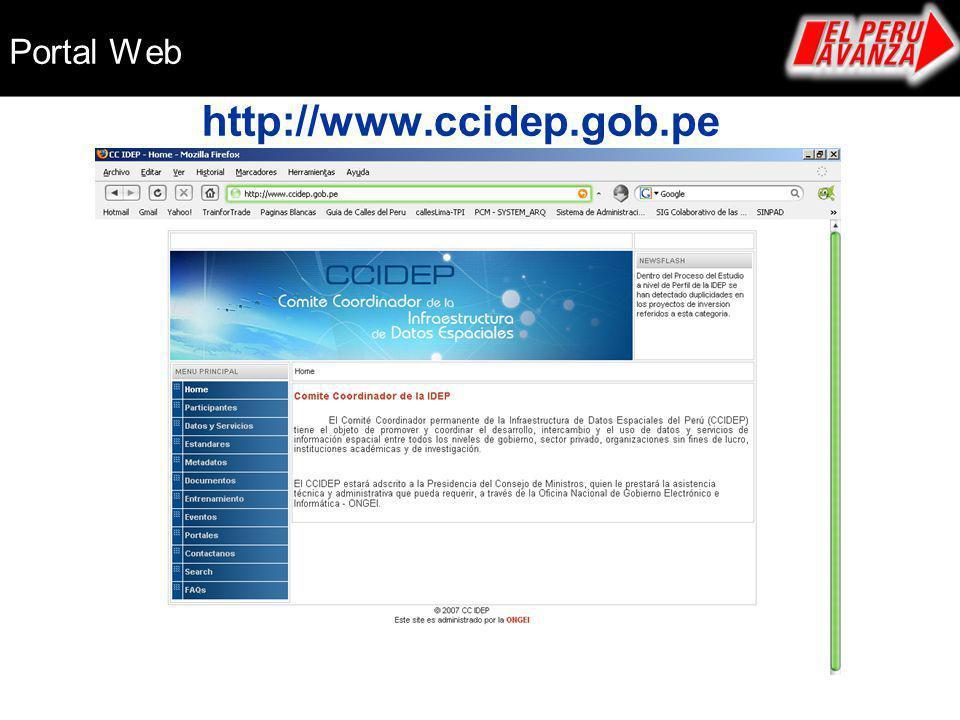 http://www.ccidep.gob.pe Portal Web