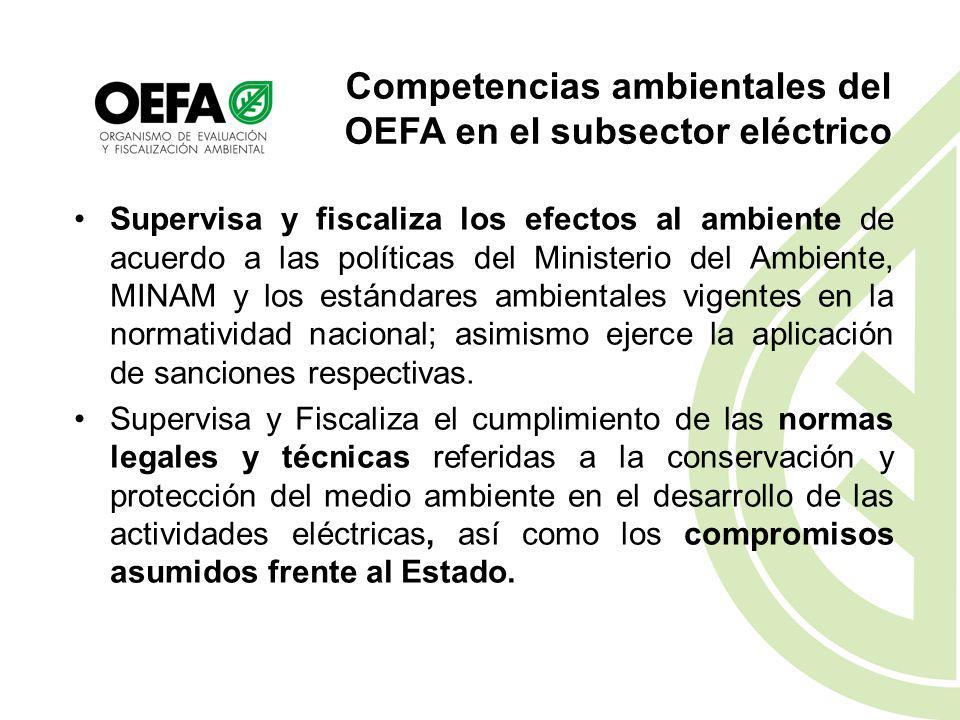A)Funcional: Decreto Legislativo N° 1013, Ley de creación, organización y funciones del Ministerio del Ambiente, Creación del OEFA; Ley N° 29325, Ley