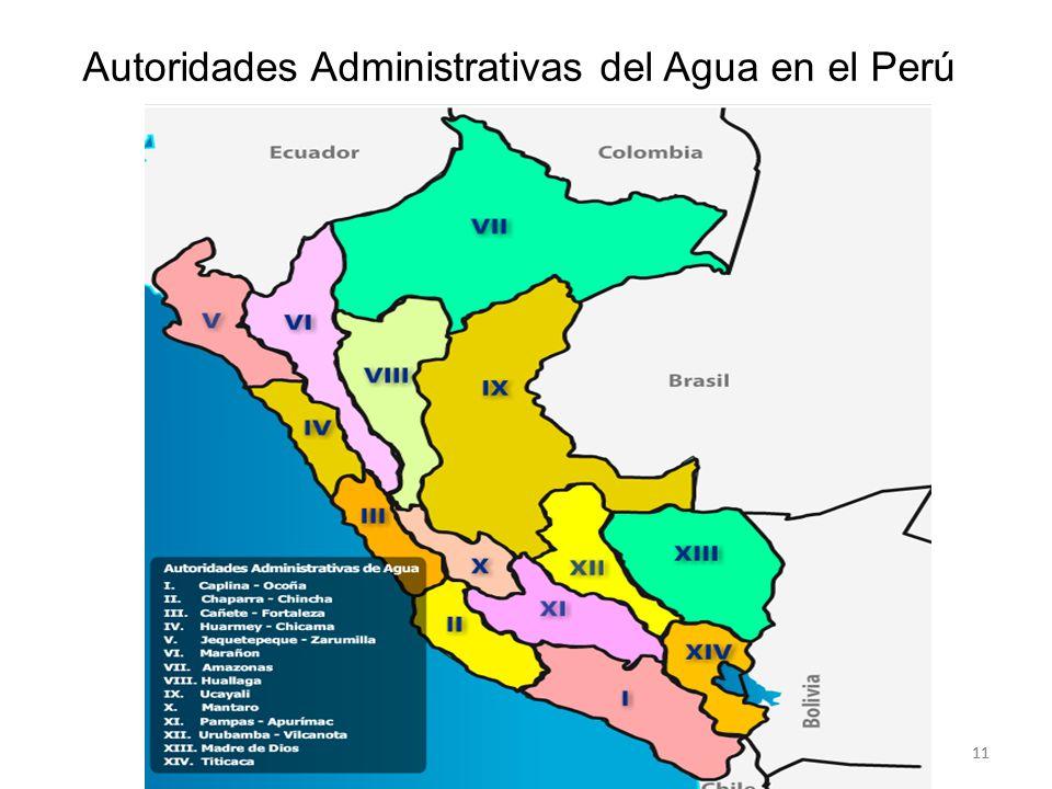 Autoridades Administrativas del Agua en el Perú 11