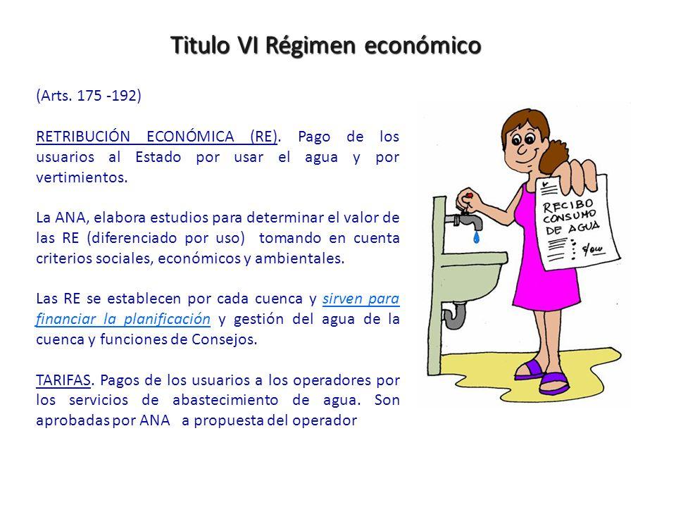 Titulo VI Régimen económico (Arts.175 -192) RETRIBUCIÓN ECONÓMICA (RE).