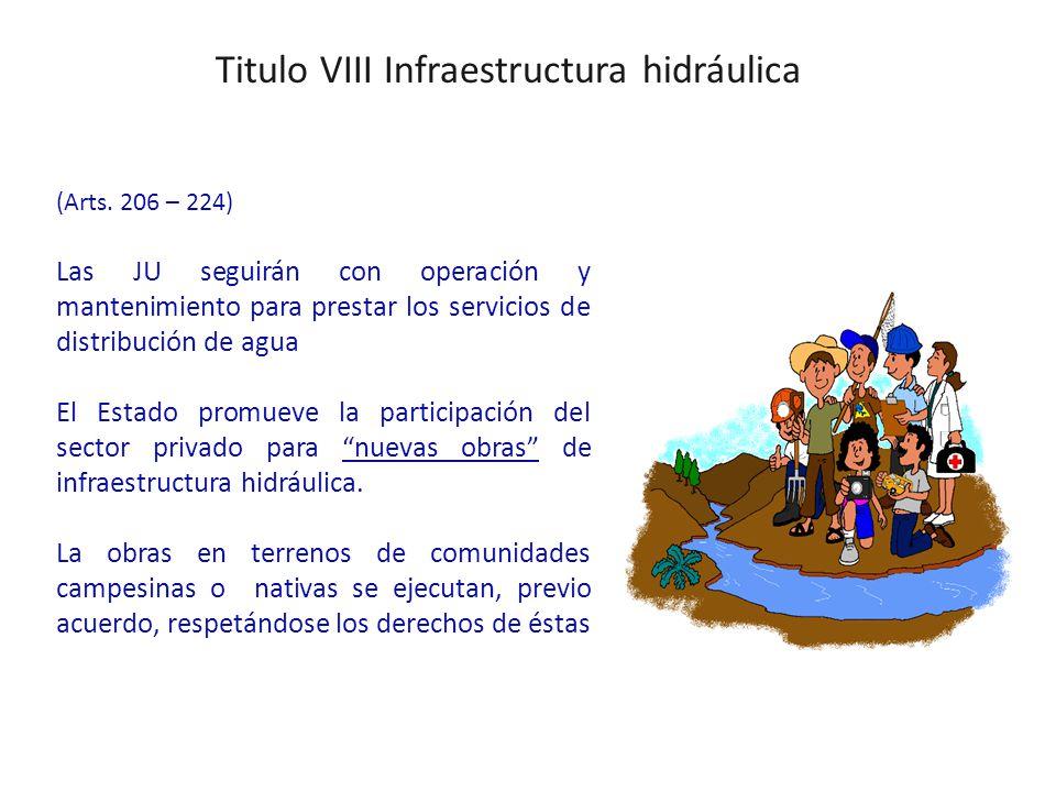 Titulo VIII Infraestructura hidráulica (Arts.