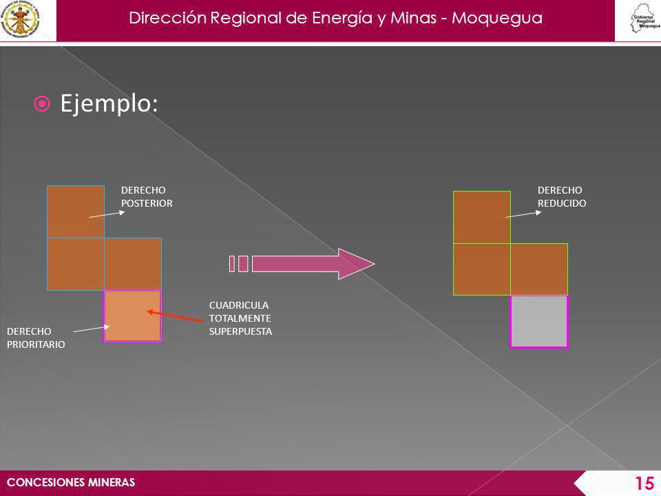 Dirección Regional de Energía y Minas - Moquegua CONCESIONES MINERAS 16 Diario Oficial El Peruano.