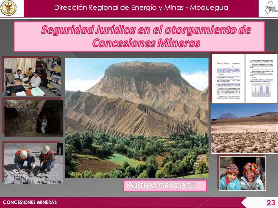 Dirección Regional de Energía y Minas - Moquegua CONCESIONES MINERAS 23