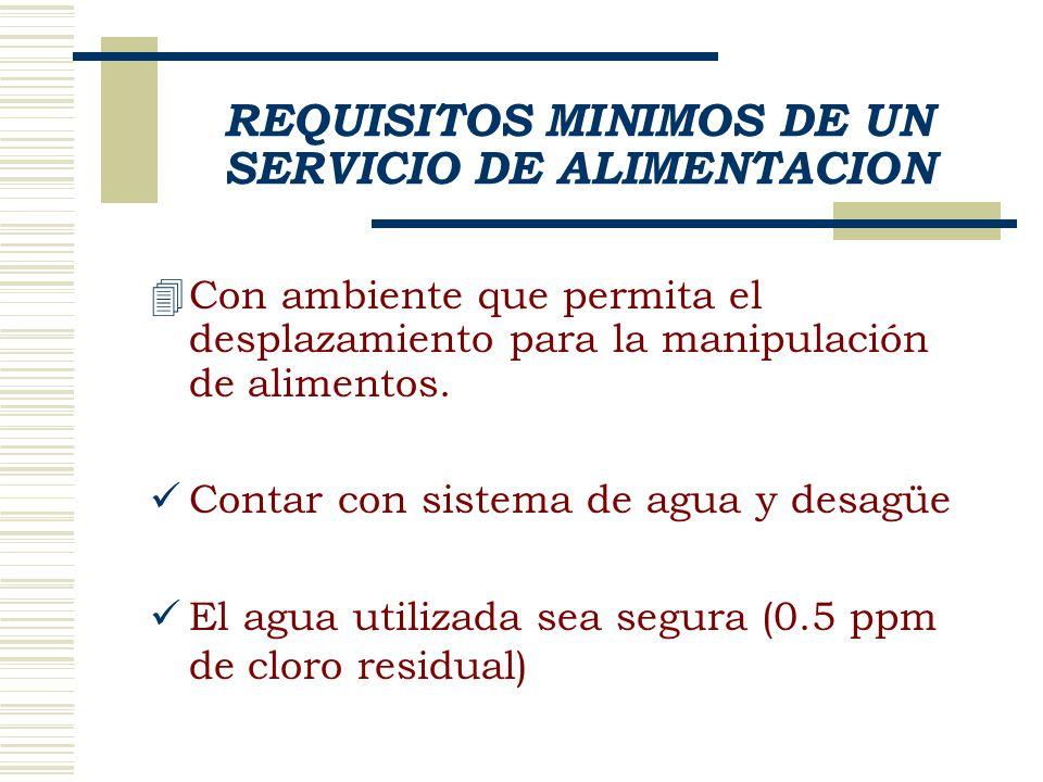 Los recipientes y utensilios empleados para servir, deben ser lavados al menos cada 4 horas y al final de la jornada.