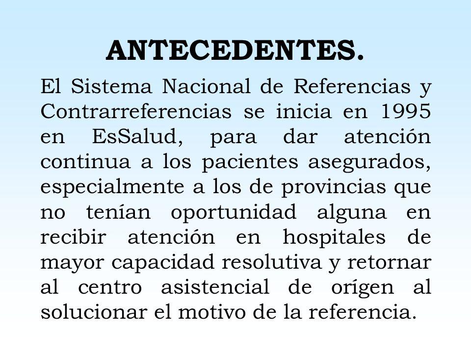 MESA REDONDA: SISTEMA DE REFERENCIA Y CONTRARREFERENCIA III ENCUENTRO NACIONAL DE HOSPITALES II FORO INTERNACIONAL DE GESTION HOSPITALARIA Junio 2004