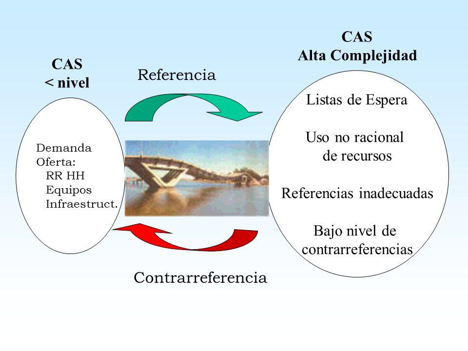 PROYECCIONES EN EL SISTEMA DE REFERENCIA Y CONTRARREFERENCIA Nueva estructura orgánica: formación de redes a nivel nacional desde nov del 2003.