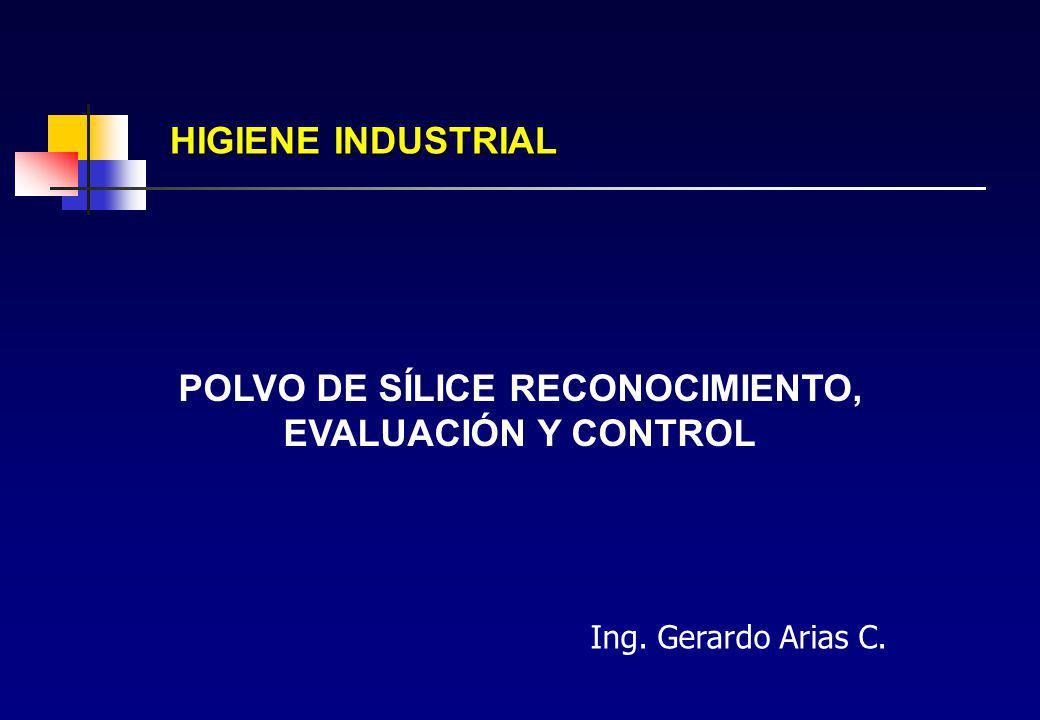 Aerosol sólido tipo polvo INORGANICOS ORGANICOS POLVOS (partículas y fibras) Neumoconiógenos No Neumoconiógenos Silíceos No Silíceos Metales Metaloides Naturales Sintéticos Origen Animal Origen Vegetal Plásticos Drogas Pesticidas Resinas AEROSOLES