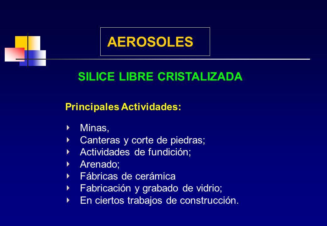 SILICE LIBRE CRISTALIZADA El óxido de silicio o dióxido de silicio (SiO 2 ), cuya forma principal es el cuarzo es uno de los compuestos más abundantes