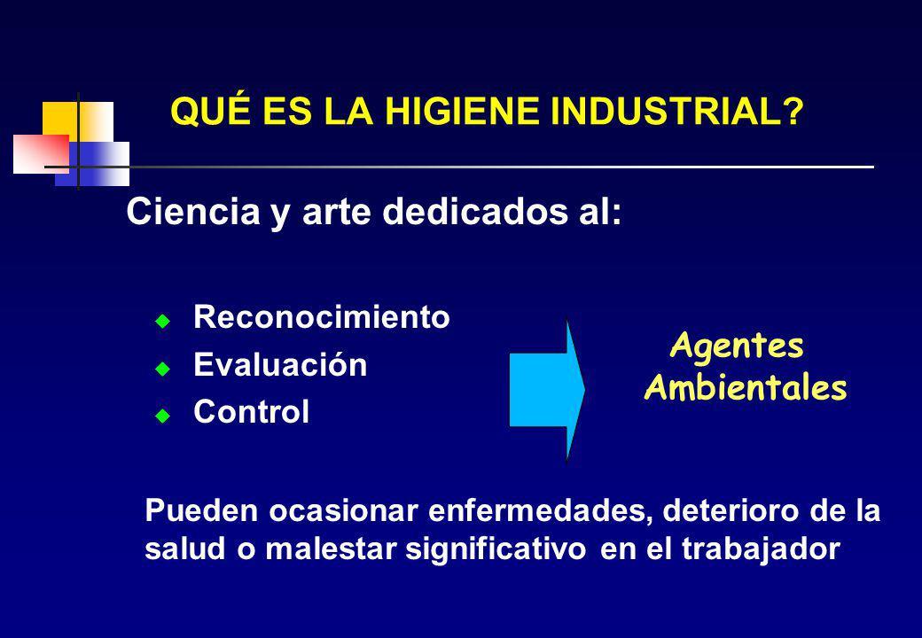 RIESGOS DE LOS AGENTES CONTAMINANTES Los agentes contaminantes en los ambientes de trabajo constituyen un riesgo para la salud del trabajador y le pue