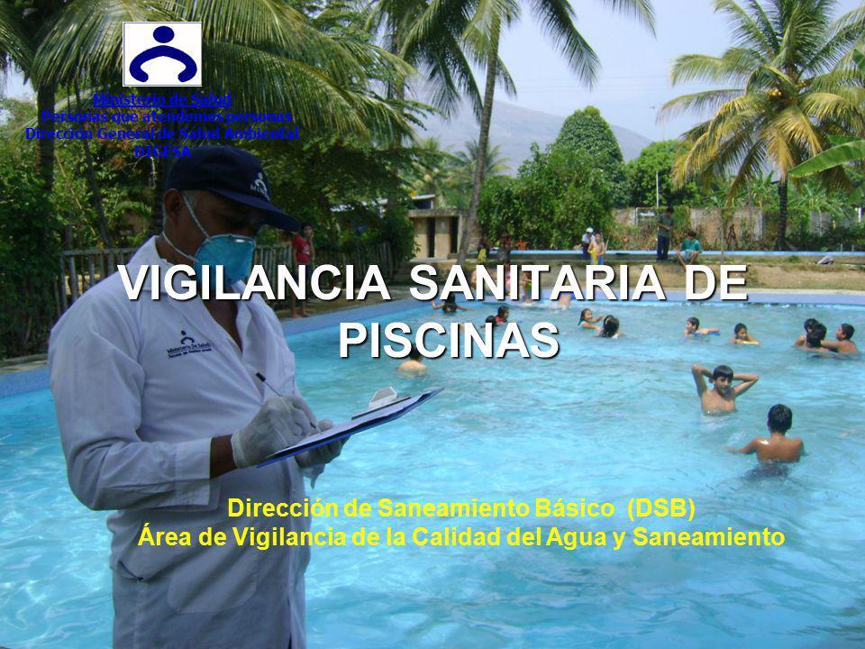 VIGILANCIA SANITARIA DE PISCINAS Ministerio de Salud Personas que atendemos personas Dirección General de Salud Ambiental DIGESA Dirección de Saneamie