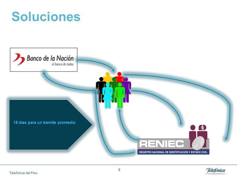 Telefónica del Peru 9 Soluciones 18 días para un tramite promedio