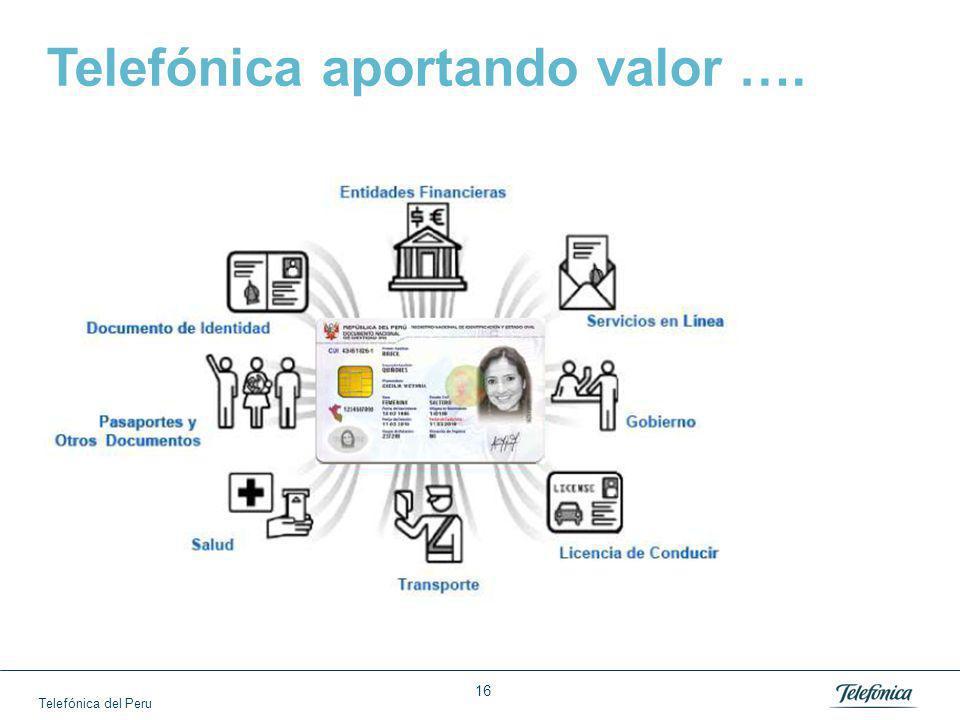 Telefónica del Peru 16 Telefónica aportando valor ….