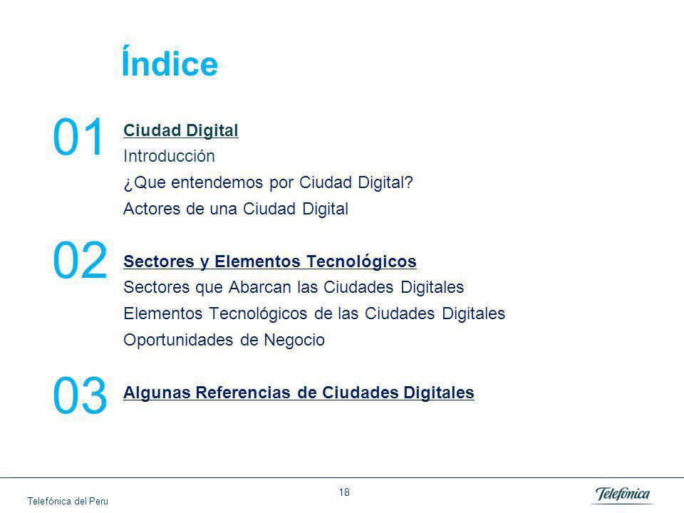 Telefónica del Peru Ciudad Digital Introducción ¿Que entendemos por Ciudad Digital.