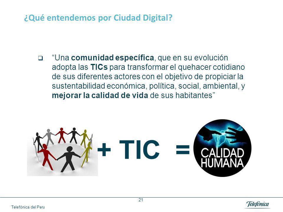 Telefónica del Peru 21 ¿Qué entendemos por Ciudad Digital.