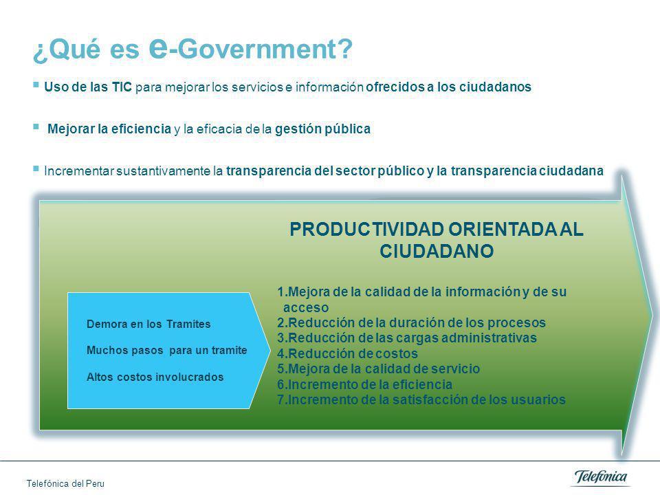 Telefónica del Peru ¿Qué es e -Government.