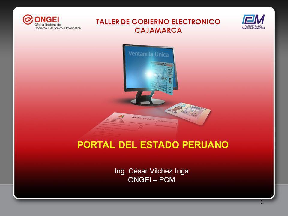 1 PORTAL DEL ESTADO PERUANO Ing.