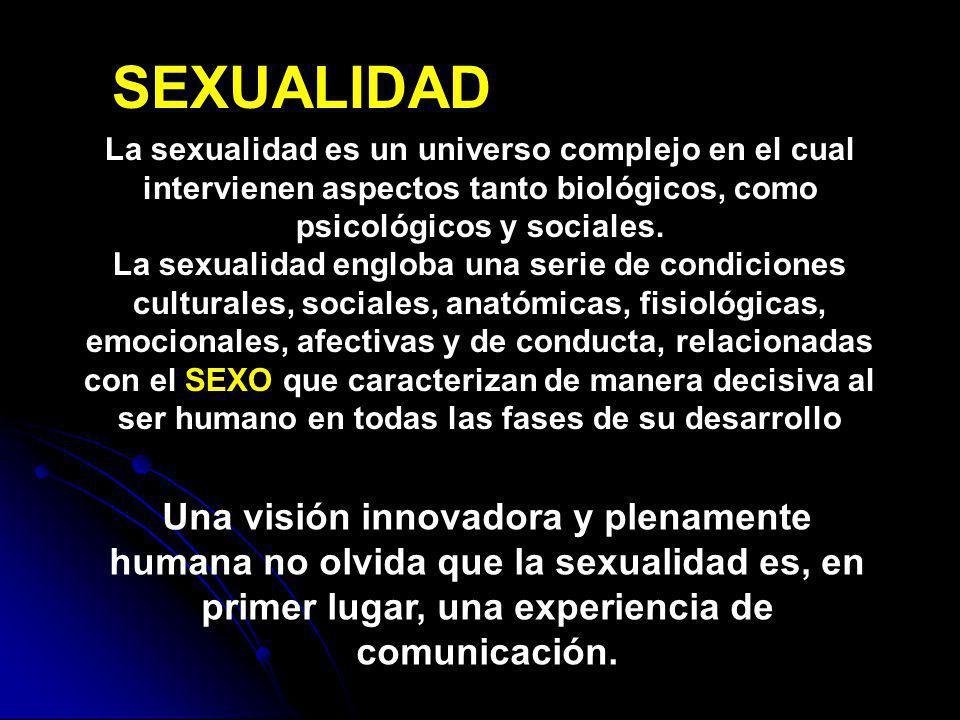La sexualidad es un universo complejo en el cual intervienen aspectos tanto biológicos, como psicológicos y sociales. La sexualidad engloba una serie