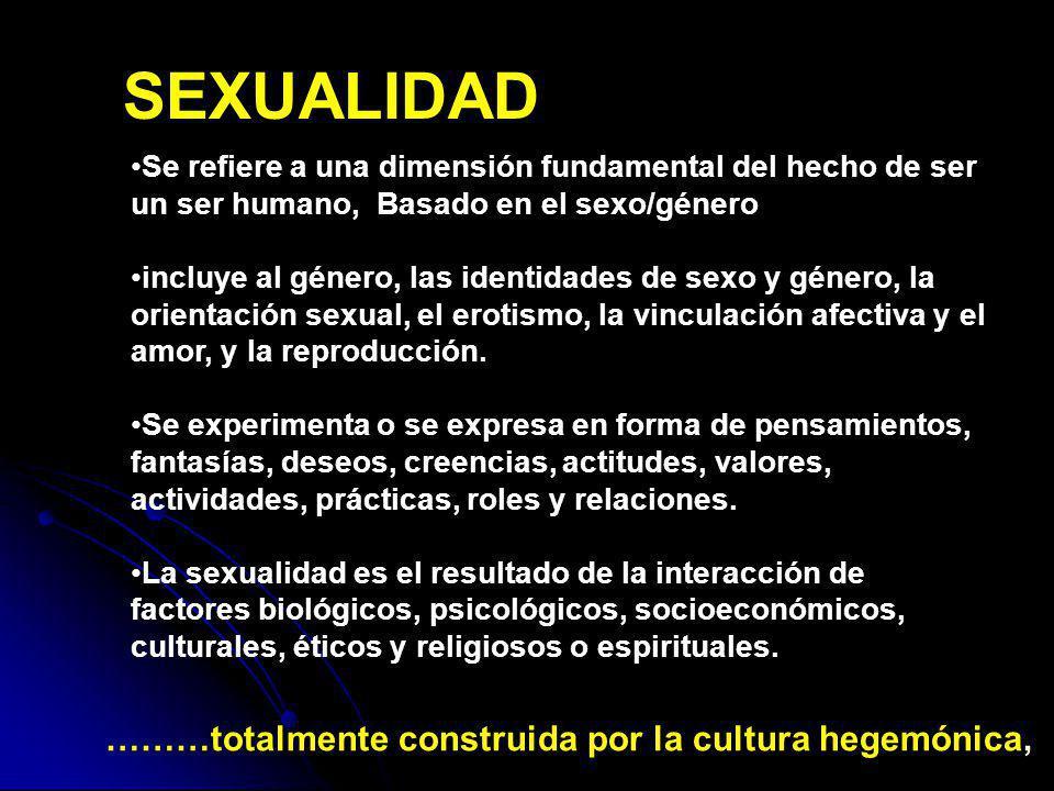 Se refiere a una dimensión fundamental del hecho de ser un ser humano, Basado en el sexo/género incluye al género, las identidades de sexo y género, l