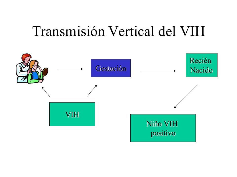 Transmisión Vertical del VIH Gestación VIH ReciénNacido Niño VIH positivo