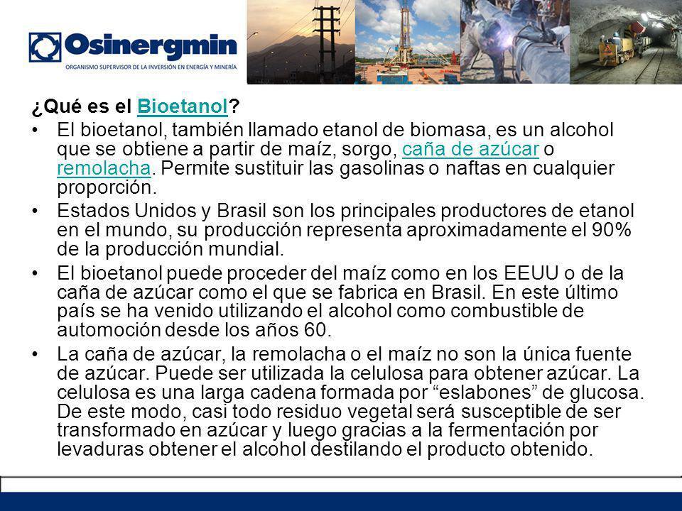 ¿Qué es el Bioetanol?Bioetanol El bioetanol, también llamado etanol de biomasa, es un alcohol que se obtiene a partir de maíz, sorgo, caña de azúcar o remolacha.