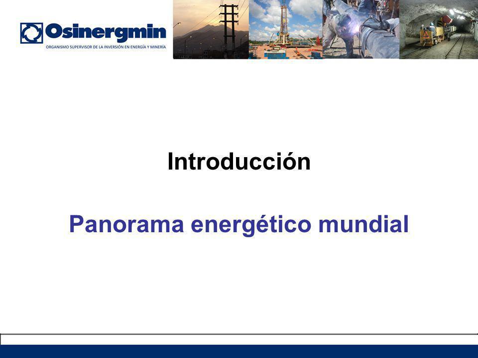 Introducción Panorama energético mundial