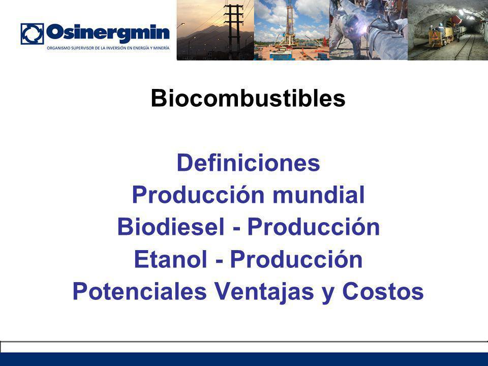 Definición Los biocombustibles pueden ser definidos como los combustibles que se derivan de cualquier recurso biológico o biomasa.