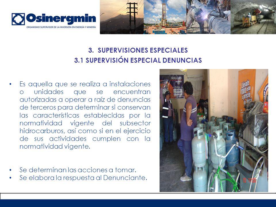 3.2 SUPERVISIÓN ESPECIAL EMERGENCIAS PROCEDIMIENTO PARA EL REPORTE DE EMERGENCIAS EN LAS ACTIVIDADES DEL SUBSECTOR HIDROCARBUROS RCD 088-2005-OS/CD (21.05.2005), aplicable a unidades menores-unidades de Hidrocarburos Líquidos y GLP a cargo de la Unidad de Comercialización de la GFHL (UCHL).