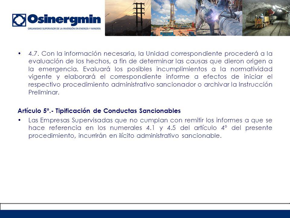 REGLAMENTO DE SUPERVISION DE ACTIVIDADES ENERGETICAS Y MINERAS DE OSINERGMIN RCD 205-2009-OS/CD (04.11.2009).