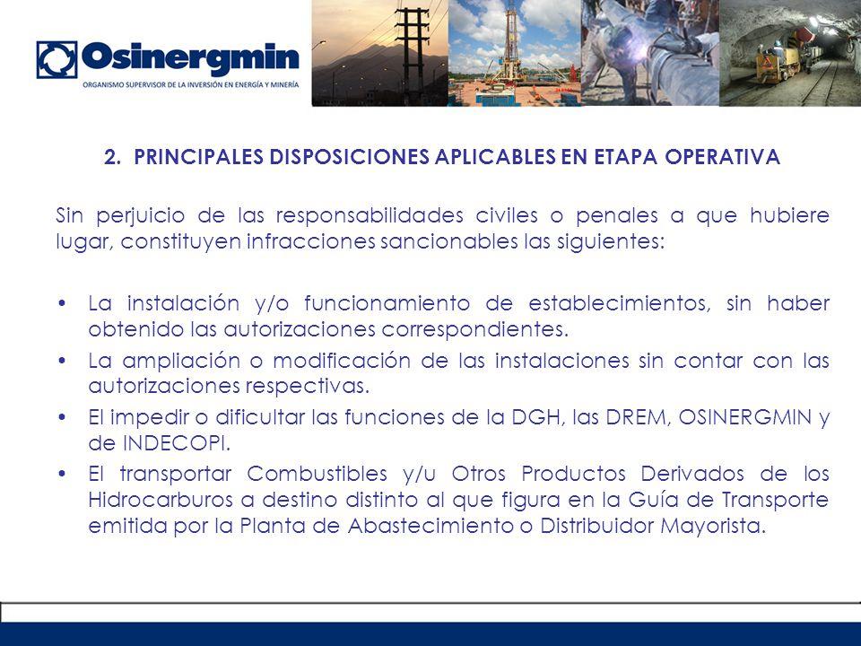 Principales disposiciones aplicables a supervisión operativa.