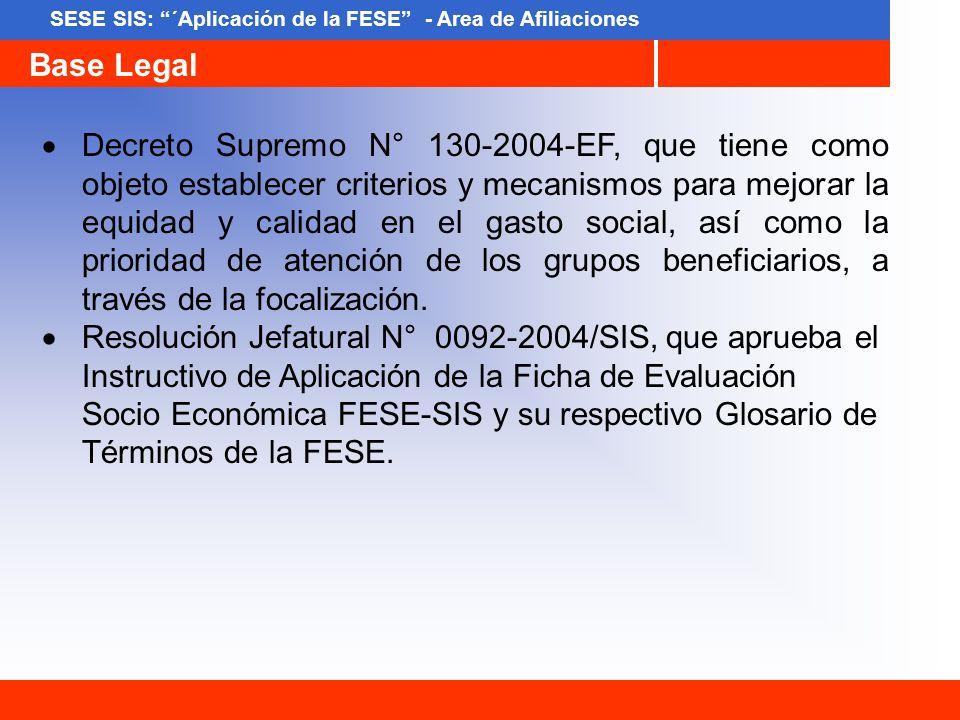 Decreto Supremo N° 130-2004-EF, que tiene como objeto establecer criterios y mecanismos para mejorar la equidad y calidad en el gasto social, así como