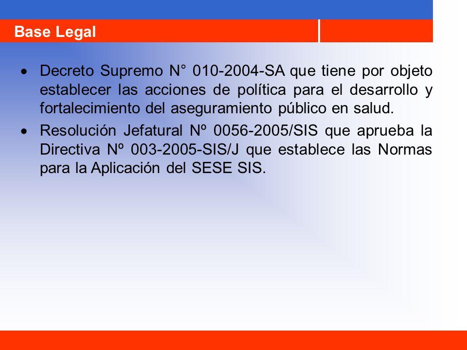 Decreto Supremo N° 010-2004-SA que tiene por objeto establecer las acciones de política para el desarrollo y fortalecimiento del aseguramiento público