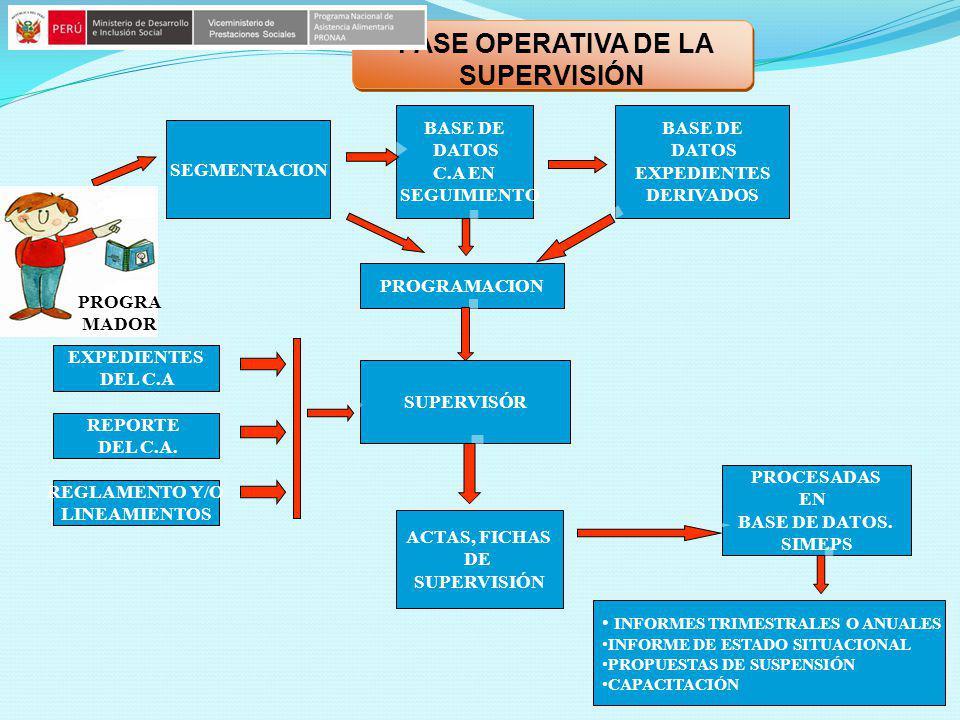 BASE DE DATOS EXPEDIENTES DERIVADOS BASE DE DATOS EXPEDIENTES DERIVADOS SEGMENTACION BASE DE DATOS C.A EN SEGUIMIENTO BASE DE DATOS C.A EN SEGUIMIENTO