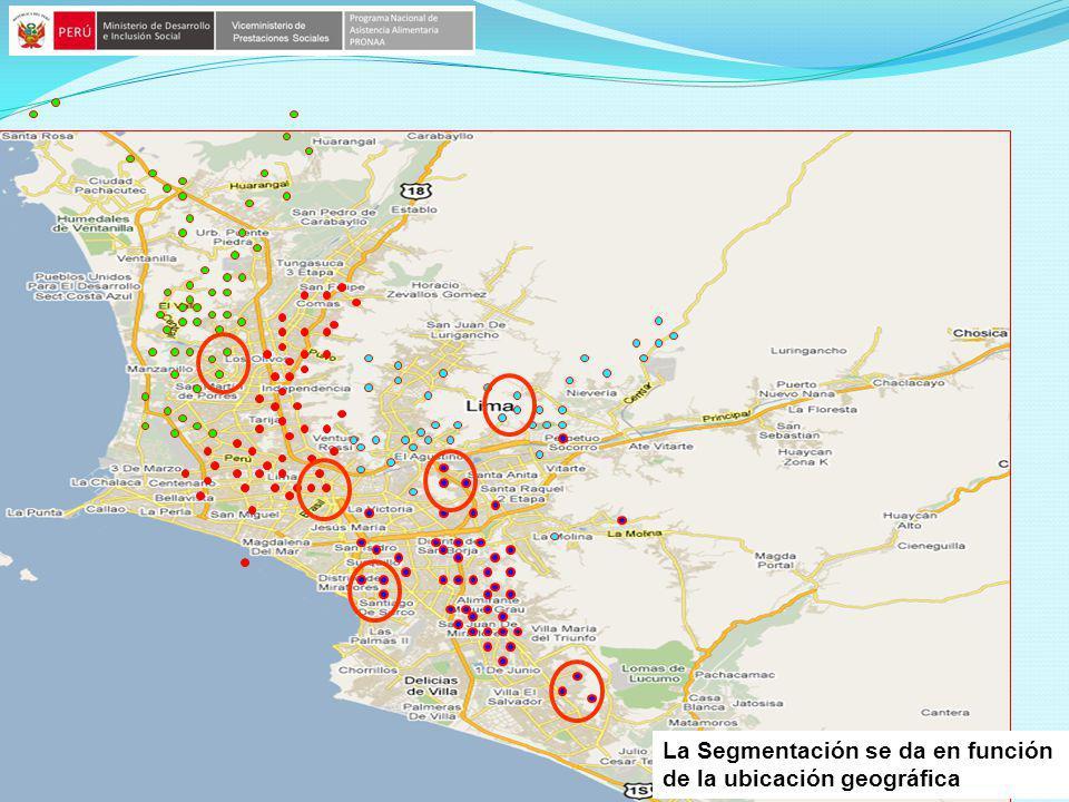 La Segmentación se da en función de la ubicación geográfica