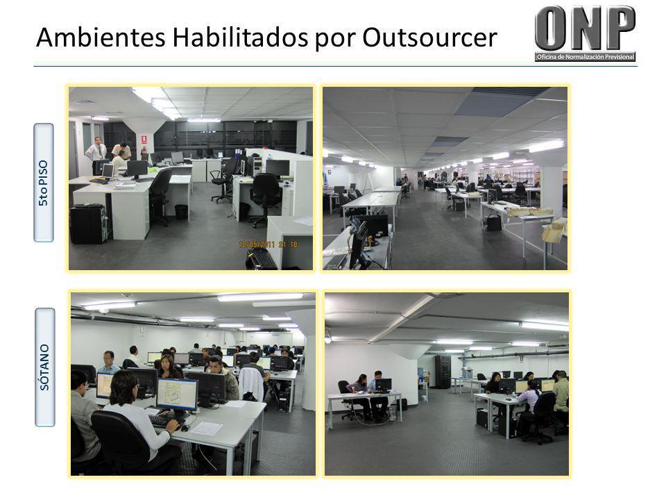 Ambientes Habilitados por Outsourcer 5to PISO SÓTANO