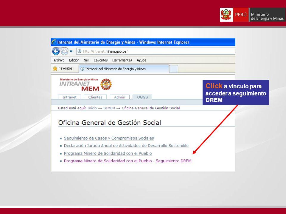 Click a vinculo para acceder a seguimiento DREM