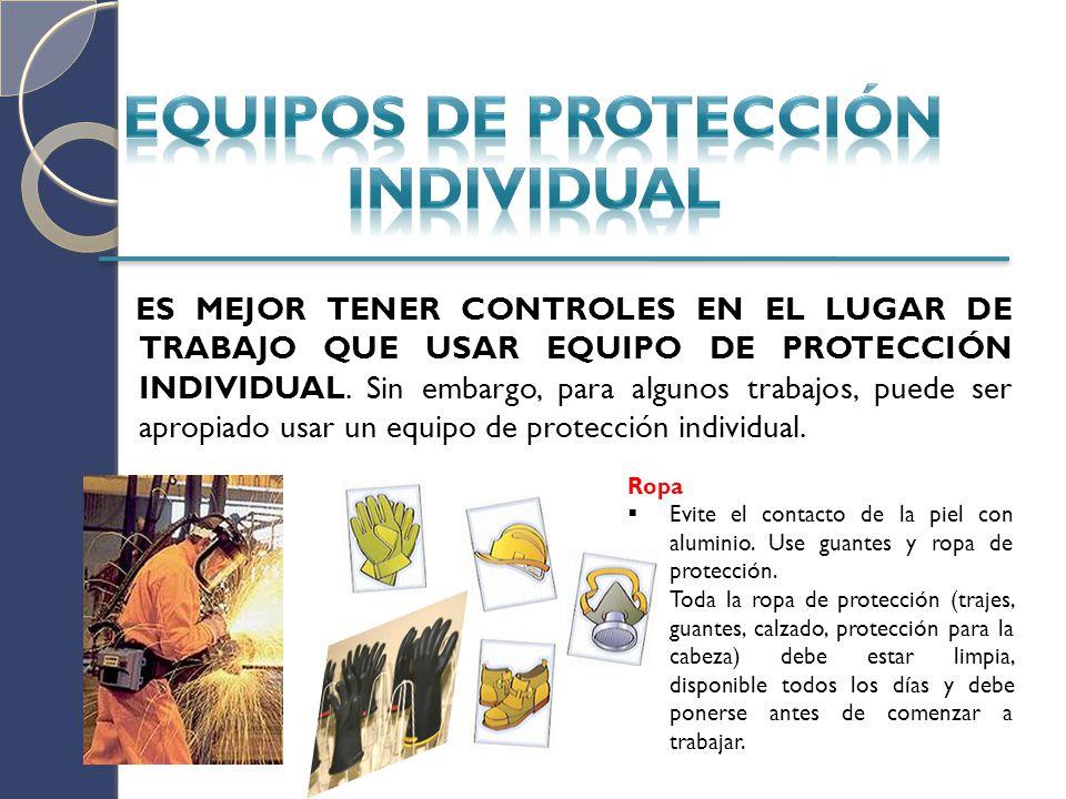 Protección para los ojos Use protección ocular con coberturas laterales o gafas de protección.