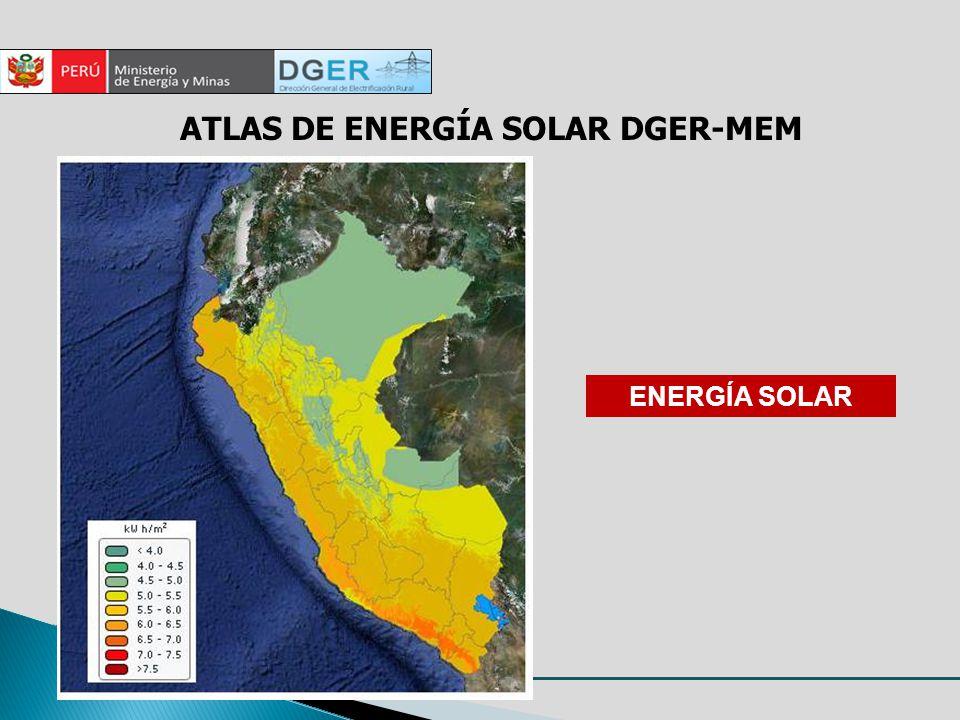 ATLAS DE ENERGÍA SOLAR DGER-MEM ENERGÍA SOLAR