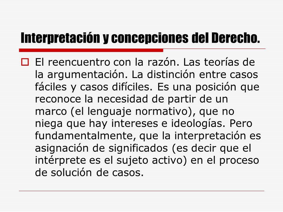 Interpretación y concepciones del Derecho.El irracionalismo escéptico.