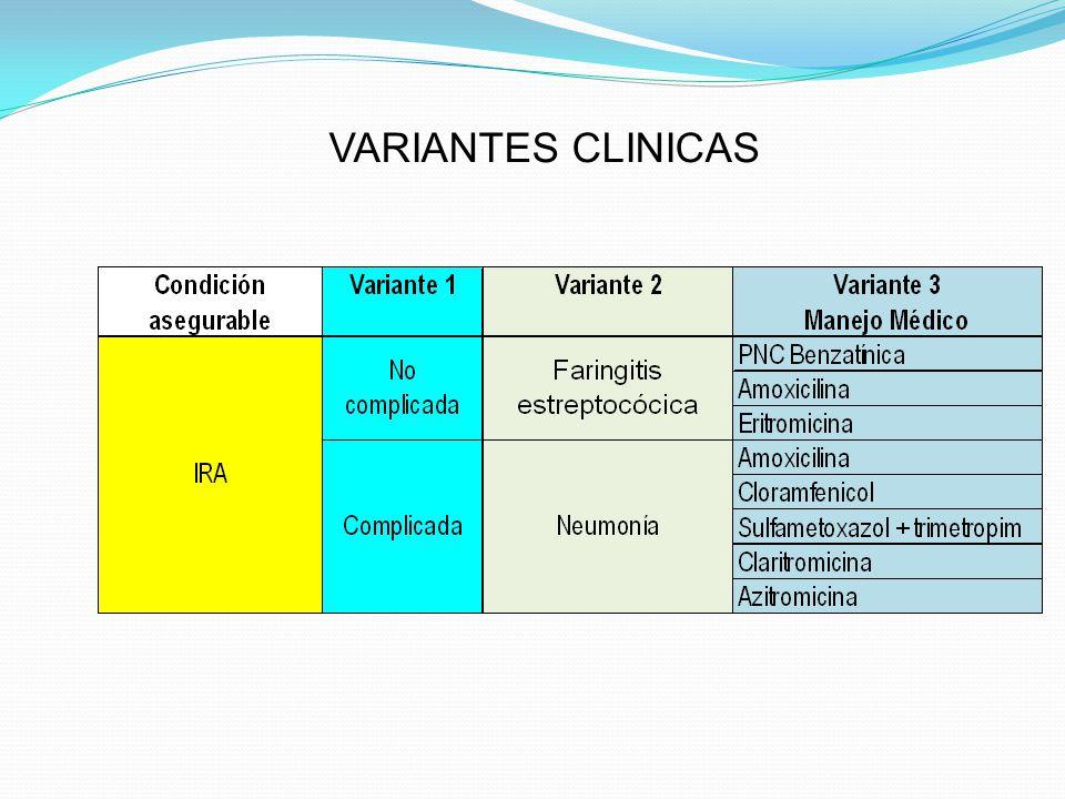 VARIANTES CLINICAS