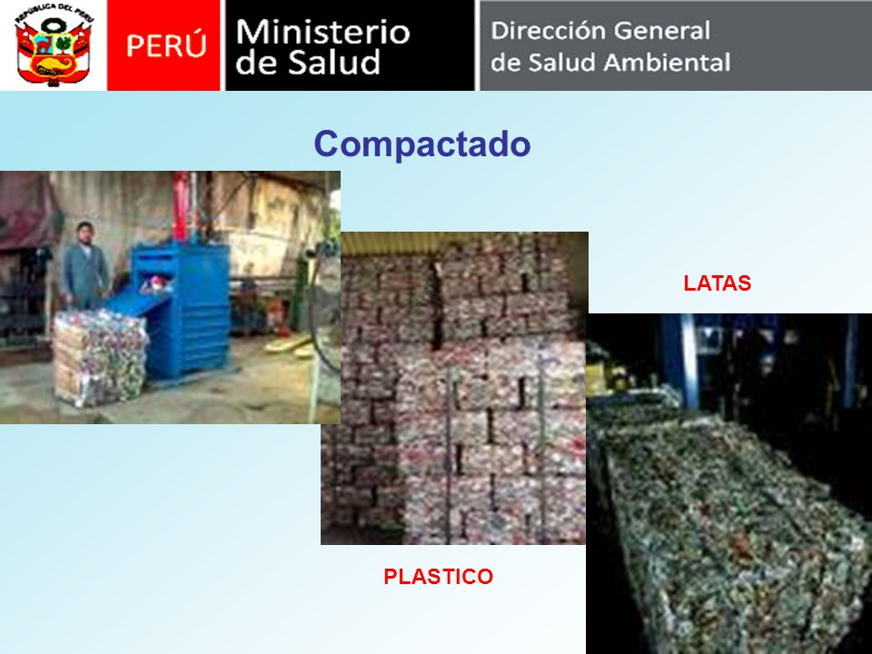 Compactado PLASTICO LATAS