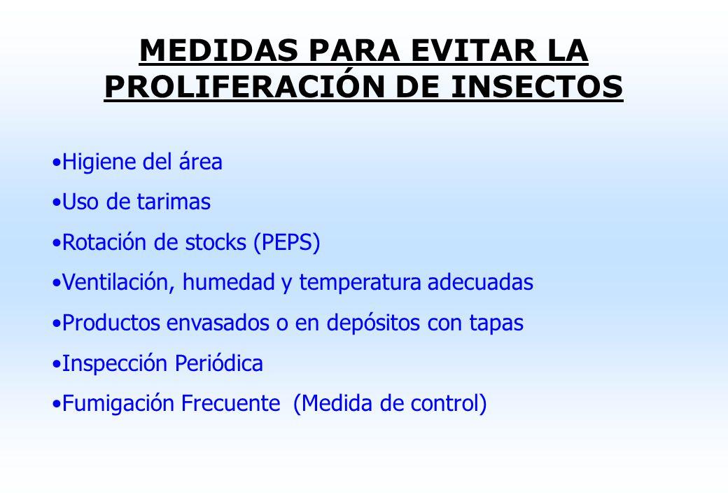 CONTAMINACIÓN DE ALIMENTOS ALMACENADOS CAUSADA POR INSECTOS Esta puede ocurrir por las siguientes causas: Plagas procedentes del campo (transportadas