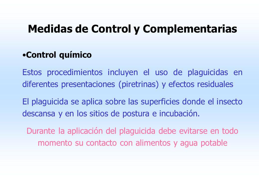 Medidas Preventivas o de Saneamiento Ambiental Protección de alimentos, colocándolos en vitrinas y estantes cubiertos o campanas de malla. Eliminación