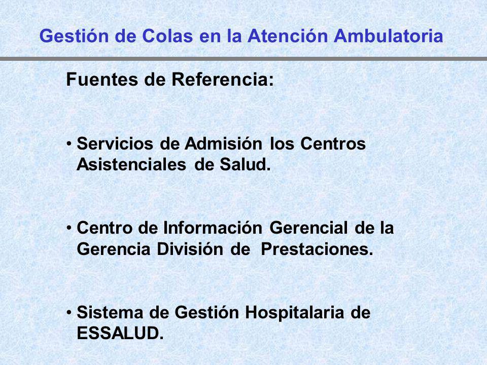 Fuentes de Referencia: Servicios de Admisión los Centros Asistenciales de Salud. Centro de Información Gerencial de la Gerencia División de Prestacion