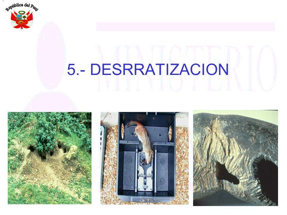 5.- DESRRATIZACION