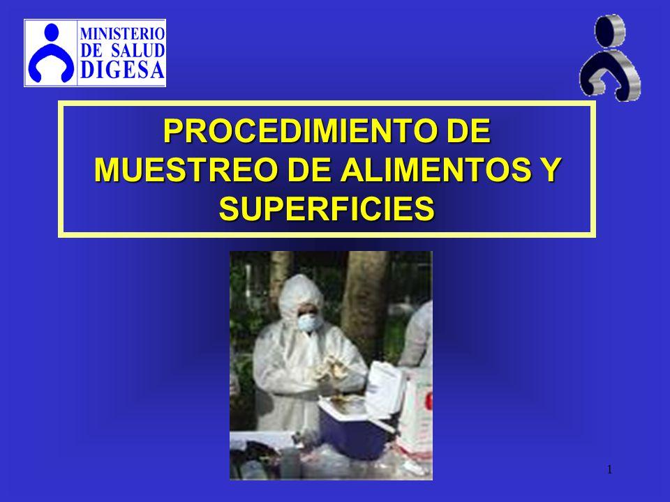 1 PROCEDIMIENTO DE MUESTREO DE ALIMENTOS Y SUPERFICIES