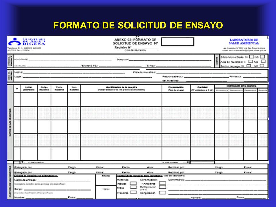 17 FORMATO DE SOLICITUD DE ENSAYO